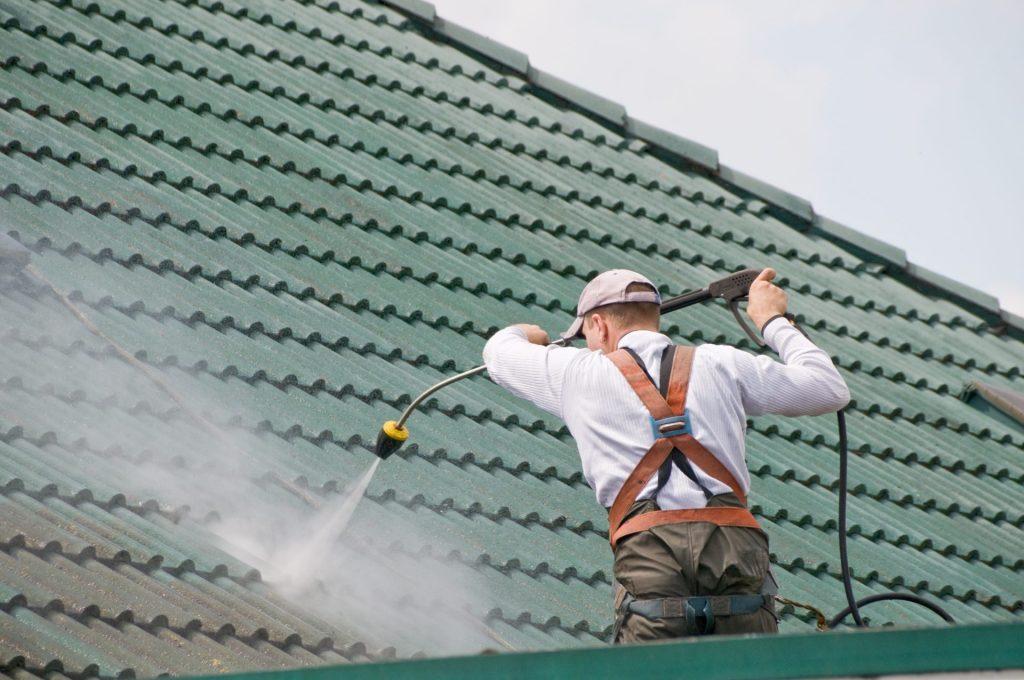 demoussage haute pression après pulvérisation d'anti mousse sur Chalon sur Saone